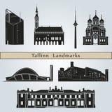 Tallinn Landmarks Stock Photo