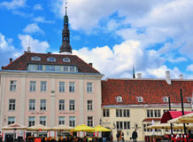 Tallinn main square Royalty Free Stock Photos