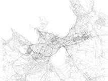 Tallinn map, satellite view, city, Estonia Stock Photo
