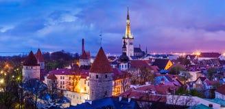 Tallinn Medieval Old Town panorama, Estonia Royalty Free Stock Photos