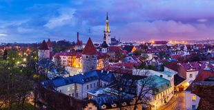 Tallinn Medieval Old Town panorama, Estonia Royalty Free Stock Photography