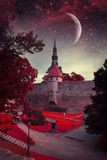Tallinn mystical night. stock photo