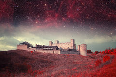 Tallinn mystical night. royalty free stock images