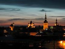 Tallinn by night stock image