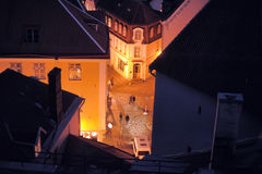 Tallinn night old town view Stock Images