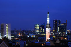 Tallinn at Night Royalty Free Stock Photo