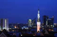 Tallinn at Night Royalty Free Stock Photo