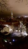 Tallinn by Night. A view over Tallinn by night Stock Photos