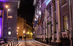 Tallinn at night in winter Royalty Free Stock Image
