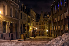 Tallinn at night in winter Royalty Free Stock Images