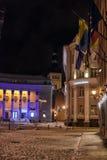 Tallinn at night in winter Stock Images