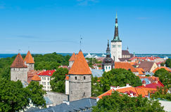 Tallinn old city Stock Photos