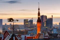 Tallinn. Old city at dawn. Stock Image