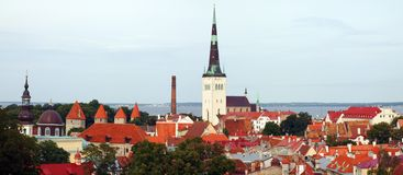 Tallinn old city view Royalty Free Stock Photography