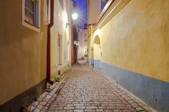 Tallinn. Old street at night Royalty Free Stock Photography