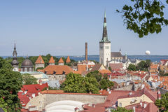 Tallinn,Medieval Town. Tallinn Old Town,Tallinn City,Estonia Stock Photography
