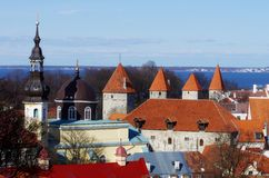 Tallinn (Old town). Town city estonia tallinn nature europe church Stock Image