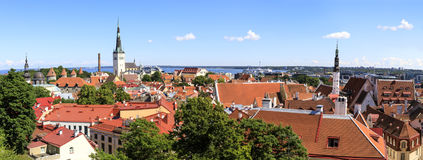 Tallinn old town city panorama in summer Royalty Free Stock Photos
