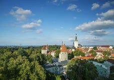 Tallinn old town in estonia Royalty Free Stock Image