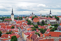 Tallinn old town panorama Royalty Free Stock Photography