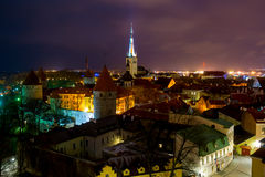 Tallinn old town from Patkul lookout Stock Photo