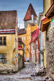 Tallinn Old Town street, Estonia Royalty Free Stock Photography