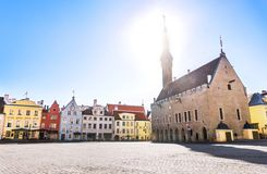 Free Tallinn Old Town View In Town Hall Square Raekoja Plats Stock Photo - 122902020