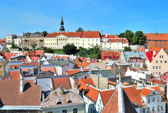 Tallinn. Old Town and Vyshgorod. Tallinn, Estonia. View of the Old Town and Vyshgorod Royalty Free Stock Images