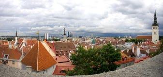 Tallinn oldtown panorama Royalty Free Stock Photo
