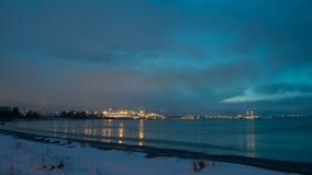 Tallinn, opinión del paisaje urbano del distrito de Pirita Fotografía de archivo