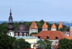 Tallinn. Oude stad. Stock Afbeeldingen