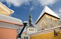 Tallinn, Oude Stad. Estland Stock Afbeeldingen