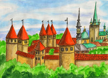 Tallinn, painting Royalty Free Stock Images