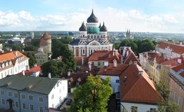 Tallinn panorama royalty free stock photo