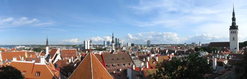 Tallinn panorama Royalty Free Stock Photos