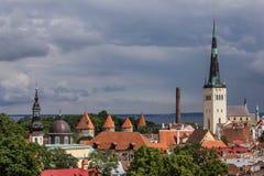 Tallinn panorama Fotografering för Bildbyråer