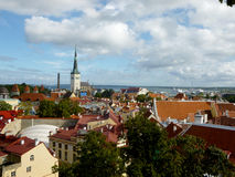 Tallinn. Panorama of the Old Town in Tallinn, Estonia Stock Photos