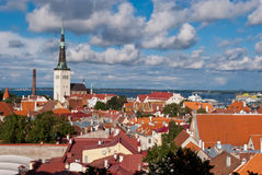 Tallinn panoramic view Royalty Free Stock Image