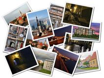 Tallinn photo collage. A collage of Tallinn landscape photos in a collage Stock Photo