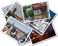 Tallinn Photos. A collage of Tallinn Estonian photos on the white background royalty free stock photography