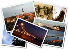 Tallinn Photos. A collage of Tallinn Estonian photos on the white background stock photo