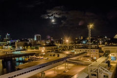 Tallinn. Port. night Royalty Free Stock Image