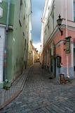 Tallinn. A quiet narrow street in the old town of Tallinn Royalty Free Stock Photo