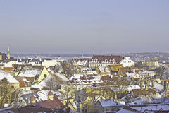 Tallinn's Old Town. Gothic architecture of the city of winter Stock Photography