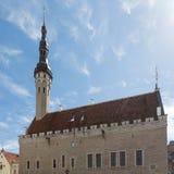 Tallinn-` s Rathaus lizenzfreie stockfotos