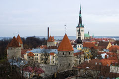Tallinn skyline Royalty Free Stock Photos