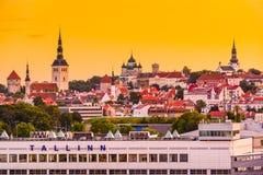 Tallinn Skyline Stock Image