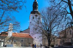 Tallinn St. Mary`s Cathedral - Dome Church stock photo