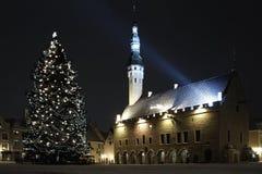 Tallinn, Stadhuis Stock Afbeeldingen