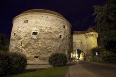 Tallinn Stadttor (porta da cidade) foto de stock